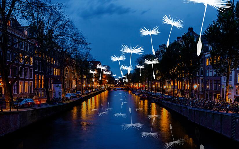 פסטיבל האורות של אמסטרדם - Amsterdam Light Festival