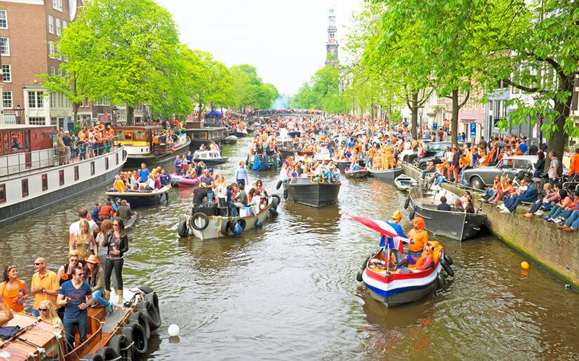יום המלך בהולנד - King's Day Amsterdam